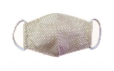 Bavlněná rouška do špičky dvouvrstvá béžová tečka