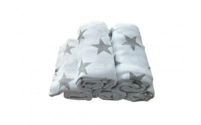Plena tisk 70x70 hvězdy šedé