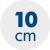 výška matraca 10 cm