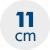 výška matraca 11 cm