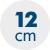 výška matraca 12 cm