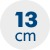 výška matraca 13 cm