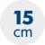výška matraca 15 cm