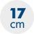 výška matraca 17 cm