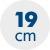 výška matraca 19 cm