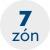 počet zón 7 zón